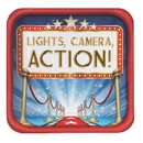 Creative Converting 427607 Hollywood Lights Dinner Plate