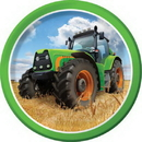 Creative Converting 318053 318053 Tractor Time Dessert Plate