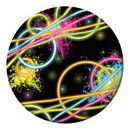 Partypro 318131 318131 Glow Party Dessert Plate