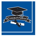 Partypro 318542 Discontinued Blue Grad Lunch Napkin