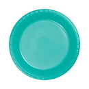 Partypro 324778 Teal Lagoon 10 In. Plastic Plate
