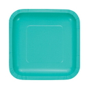 Partypro 324781 Teal Lagoon Dessert Plate Square