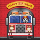 Partypro 331501 Flaming Fire Truck Lunch Bd Napkin