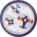 Partypro 331504 Lil Flyer Airplane Dinner Plate