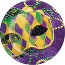 Partypro 335256 Masks Of Mardi Gras Dinner Plate