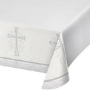Partypro 335454 Divinity Silver Tablecover