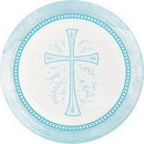 Partypro 335472 Divinity Blue Dinner Plate