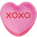 Partypro 343143 Candy Heart Shaped Dessert Plate