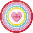 Partypro 343144 Candy Hearts Dinner Plate