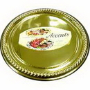Partypro G9412R18 Europa Gold Flat Platter (12 In.)
