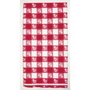 Partypro 39188 Red Gingham 54In.X108In. Plastic Tablec