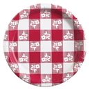 RED GINGHAM 9IN. PAPER PLATE (25 CT.)