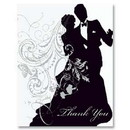 Partypro 94862 Silhouette Thank You Note