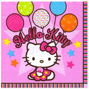 HELLO KITTY BALLOONS BEVERAGE NAPKIN