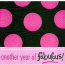 BIRTHDAY FABULOUS LUNCHEON NAPKIN