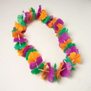 Partypro OD308 Silk Value Leis Gold/ Green/ Purple 40In