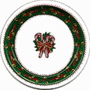 Partypro 436179 Discontinued Peppermint Pairs Banquet Plate