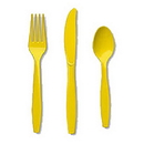 Partypro 010425 Golden Yellow Cutlery Combo Pack (24Ct)