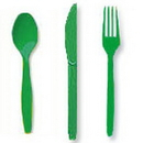 Partypro 010434 Emerald Green Cutlery Combo Pack (24Ct)