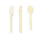 Creative Converting 010435 Ivory Cutlery Combo Pack (24Ct)