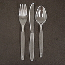 Creative Converting 010551 Clear Spoon 24 Ct