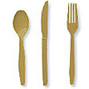 Partypro 010442 Gold Cutlery Combo Pack (24Ct)