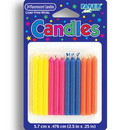 Creative Converting 089160038 Flourescent Colored Candles