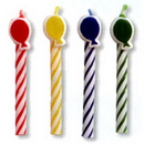 Partypro 100202 Balloon Primary Asst Candles 2.5In. Shap