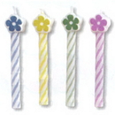 Partypro 100205 Flower Pastel Asst Candles 2.5In. Shaped