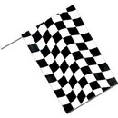 Partypro 040202 Black Check Flag 8X12 Inches
