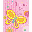 Partypro 890752 Butterflies And Flowers Thank You