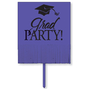 Partypro 140115 Fringed Purple Grad Yard Sign
