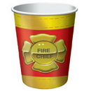 Creative Converting 375771 Firefighter Hot/Cold Cup 9 Oz
