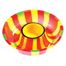Creative Converting 050831 Fiesta Stripes Serving Tray Chip/Dip