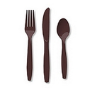 Creative Converting 019038 Chocolate Brown Cutlery Combo Pack