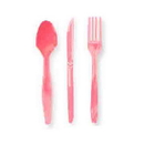 Partypro 011350 Candy Pink Cutlery Combo Pack (24Ct)
