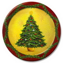 Partypro 428728 Discontinued Holiday Splendor Dinner Plate