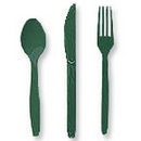 Partypro 013124 Hunter Green Cutlery Combo Pack (24Ct)