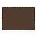 Creative Converting 863038B Chocolate Brown Placemat (50 Ct.)