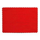 Creative Converting 863548B Red Paper Placemat