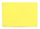 Creative Converting 863266B Lt Yellow Placemat