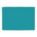 Partypro 863131B Turquoise Paper Placemat