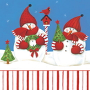 CANDY CANE SNOWMAN LUNCH NAPKIN
