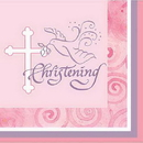 FAITHFUL PINK CHRISTEN BEVERAGE NAPKIN