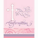 Creative Converting 899444 Faithful Pink Confirm Invitation