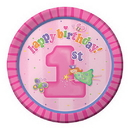 Partypro 429748 Fun At One Girl Dinner Plate
