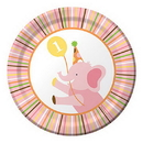 Creative Converting 415101 Sweet At One Girl Dessert Plate