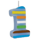 Partypro 105100 Sweet At One Boy Molded Candle