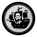 Partypro 425018 Pirate Parrty! Dinner Plate Foil
