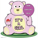 Advanced Graphics 801 Its A Girl Teddy Bear Standup